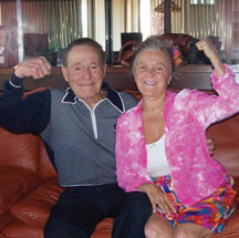Legendary fitness figure Jack LaLanne is pictured with longtime friend Dr. Patricia Bragg in 2008
