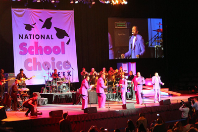 The Temptations perform at the kickoff to National School Choice Week 2012 in New Orleans, Louisiana (Jan 21, 2012)