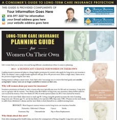 consumer guide for long term care insurance