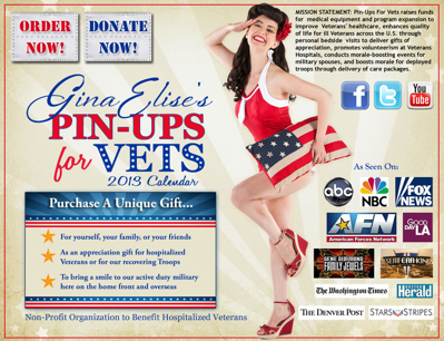 Popular 2013 Pin-Ups For Vets Calendar Just Released