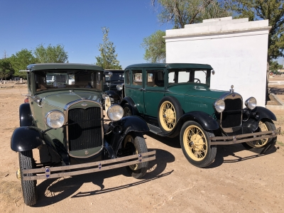 Model A Fords in Historic Fairview Cemetery, Albuquerque, NM