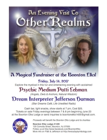 Fundraiser to Feature Acclaimed Dream Interpreter and Psychic Medium