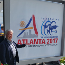 Alex Ayzin at 2017 Rotary International Presidential Peace Conference, Atlanta