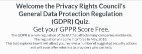 Take the GDPR Quiz.  Get your GDPR Score.