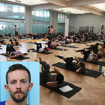Dane Sorensen Teaching Barre Fit Cardio at Equinox, Marina Del Rey