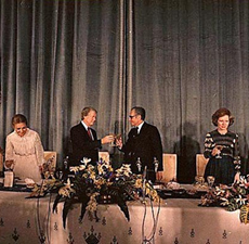 President Carter Sharing Toast with the Shah or Iran Before Stabbing Him in the Back