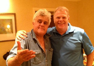 Joe Hobby and Jay Leno