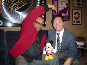 Professor Newton Lee with IFERS Benefactor & Newton Lee Fan, Quincy Jones