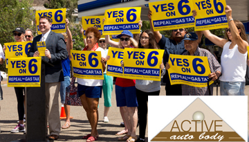 Active Auto Body in Anaheim, Calif. Supports Yes on Prop. 6 to Repeal 2017 Gas Taxes & Vehicle Fees