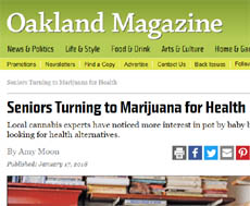 Article about Cannabis in Oakland Magazine by Amy Moon Featuring Dr. Beverly Potter, Author of Cannabis for Seniors