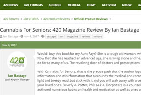 Review of Cannabis for Seniors by Beverly A. Potter in 420 Mag by Ian Bastage