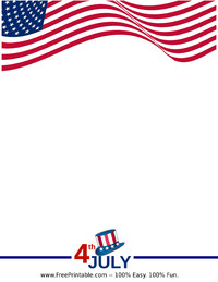 Independence Day Letterhead