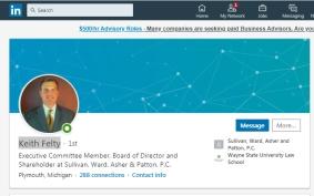 Keith Felty -- LinkedIn profile link