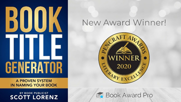 'Book Title Generator' by Book Publicist Scott Lorenz Wins 'PenCraft Award' in Business Category