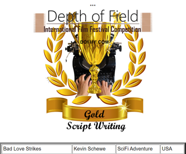 Gold Medal for Winter 2021 is  Schewe's Second Script 'Award