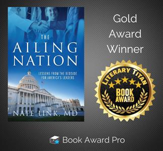 Dr. Nate Link's 'Ailing Nation'  Picks Up Literary Titan Gold Award
