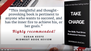 Norm Bacal's 'Take Charge' Sets Bar High for Young Pros & Students, Check Out New Book Trailer