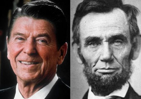 President Reagan & Lincoln, Both Great Communicators Admired by Larry Tracy