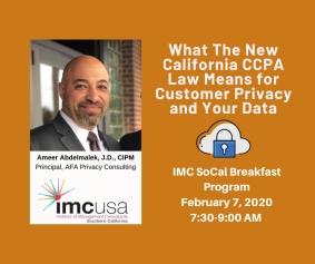 Data Privacy Program Feb. 7 IMC SoCal