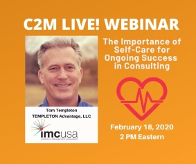 Selfcare for independent Consultants Webinar by IMC USA