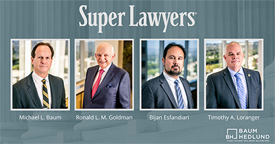 Baum Hedlund Listed in Super Lawyers®