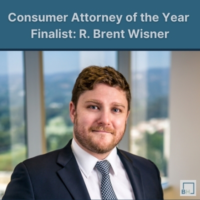 R. Brent Wisner is a Finalist for Consumer Attorney of the Year