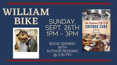 William S. Bike will speak at Madison Street Books in Chicago on Sept. 26, 2021.