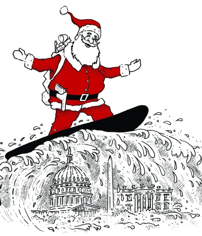 Armed Santa Surfboards to Washington DC
