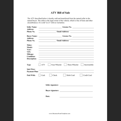 Free Printable Business Forms And Templates
