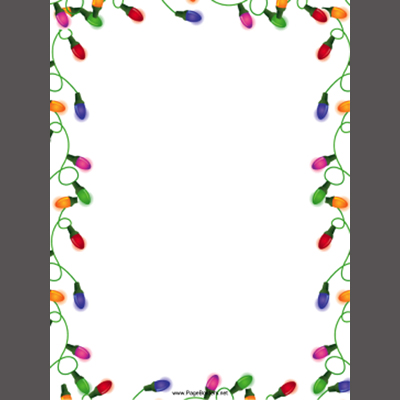 Printable christmas borders and stationery for Free christmas border templates