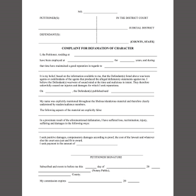 New Legal Forms