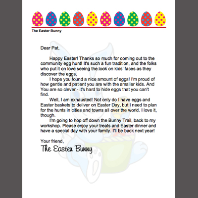 Easter printables roundup for Letter to easter bunny template