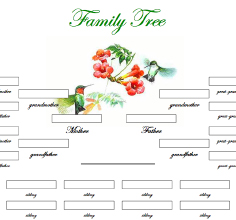 New printable family trees for Family tree templates with siblings
