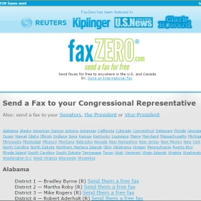 Faxzero Congress Option