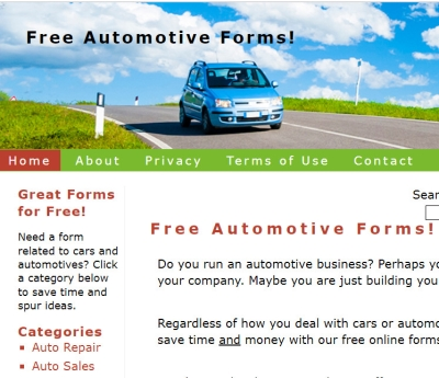 FreeAutomotiveForms Homepage