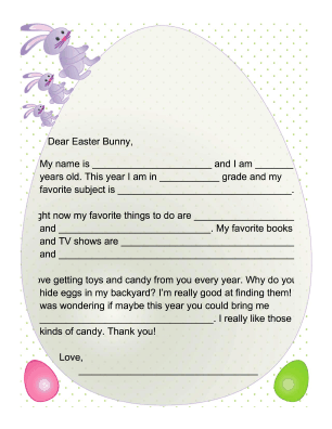 Letters to the Easter Bunny