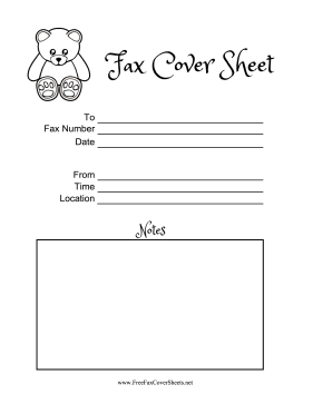 Cute Fax Cover Sheets