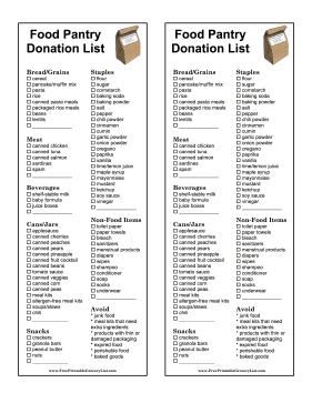 Donation Lists