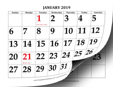printable monthly calendars