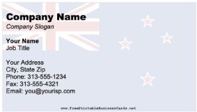 Flag Business Cards
