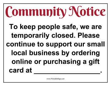 Business Quarantine Signs