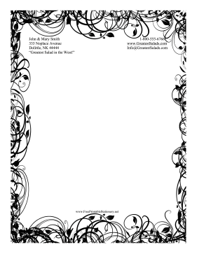 Black and White Stationery Designs
