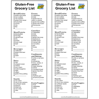 Free Printable Grocery Lists
