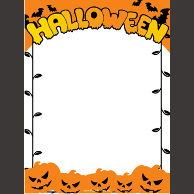photograph about Free Printable Halloween Borders titled Printable Getaway Borders