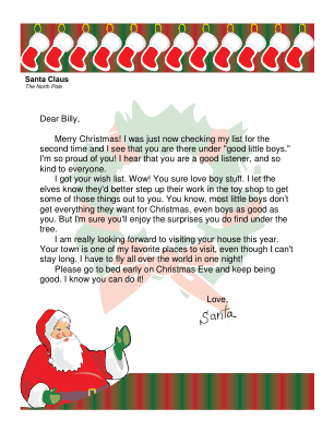 New letters from santa customizable letters from santa spiritdancerdesigns Gallery