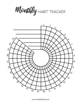 Printable Habit Trackers