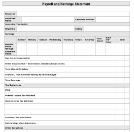 Free printable business forms and templates printable payroll statement accmission Choice Image