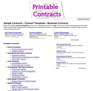 ExpertClick  Free Business Contract