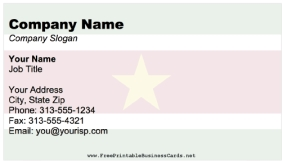National Flag Business Cards