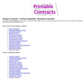 image relating to Printable Contracts called Printable Deal and Arrangement Templates